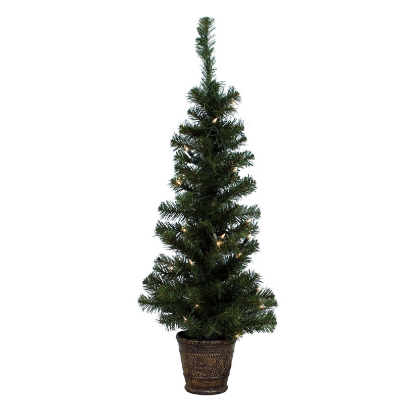 3 Ft Potted Windsor Tree With Lights
