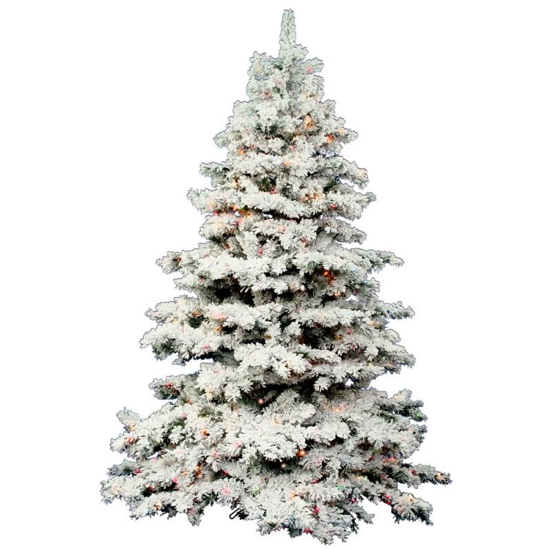 8 Ft Flocked Christmas Tree: 7.5 Ft Flocked Alaskan Mini Lights