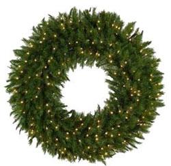 48 Inch Prelit Everest Fir Large Christmas Wreaths
