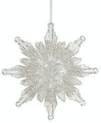 Glitter Snowflake Ornaments Online