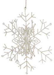 Purchase Iridescent Glitter Snowflake Ornaments Online