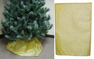 Buy Sheer Gold Fabric Drape Christmas Tree Skirts For Sale Online!