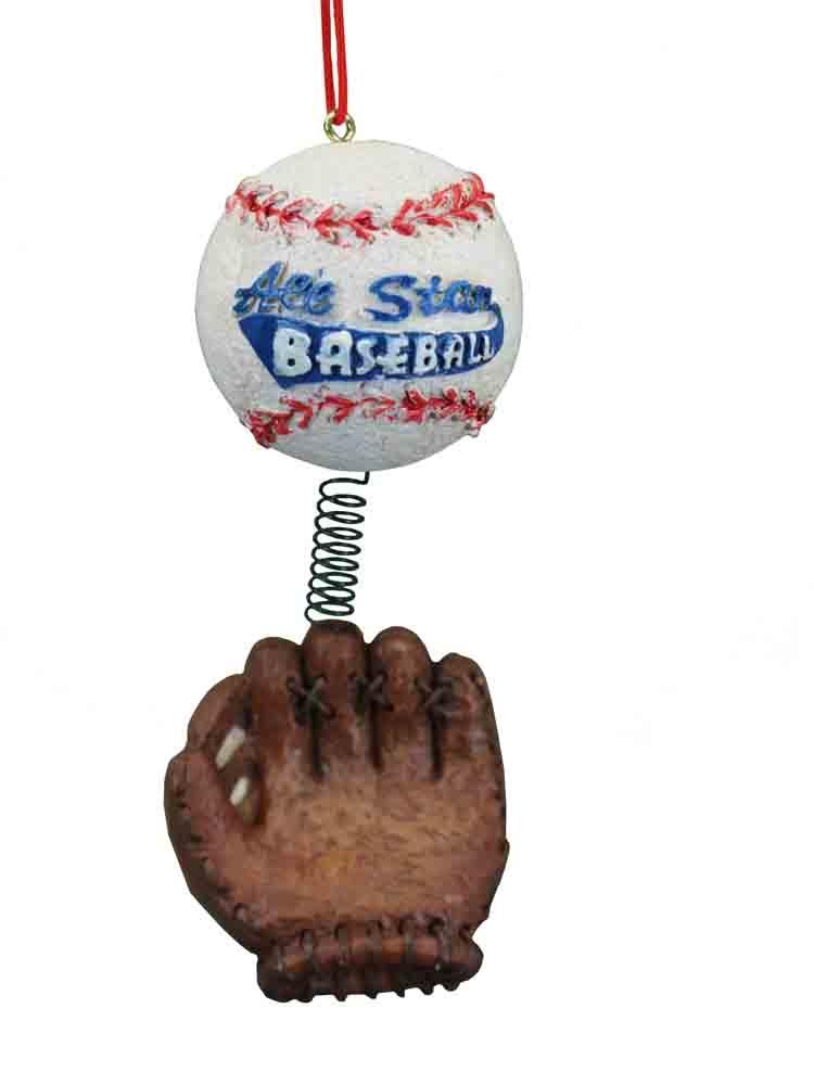 dangle all star baseball glove christmas ornament - Baseball Christmas Ornaments