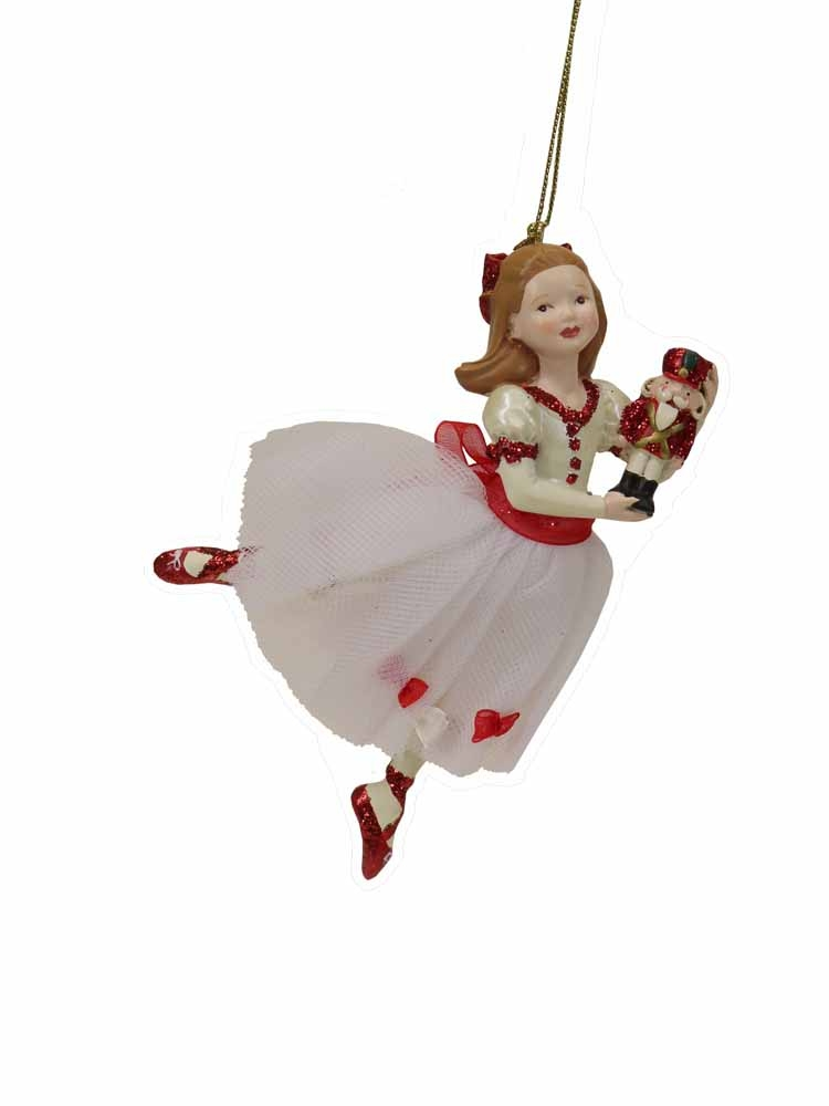 Resin Clara Nutcracker Suite Ornament