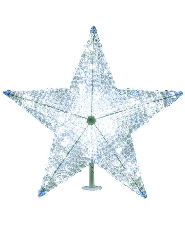 Lighted Christmas Star Tree Topper