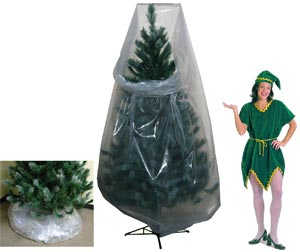 clear poly vinyl christmas tree storage bags - Christmas Tree Bag Storage