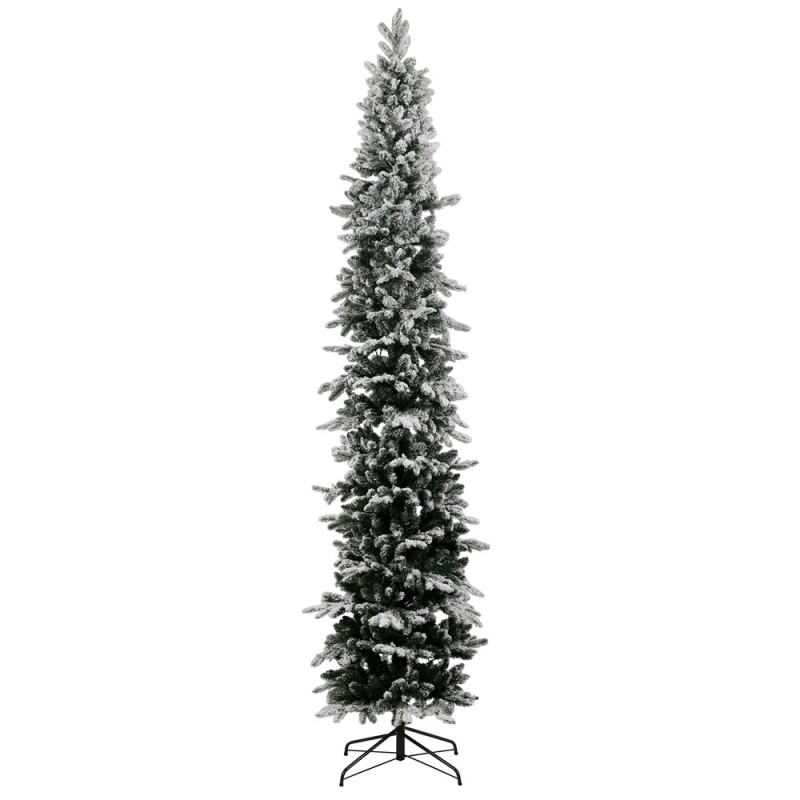 12 Ft Flocked Christmas Tree: 5 Ft Unlit Flocked Tannenbaum Pole Tree