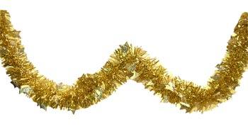 gold star foil garland