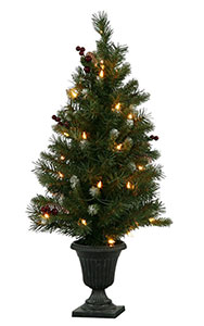 Purchase 5 ft Potted Lit Ashbery Artificial Christmas Trees Today, Online!