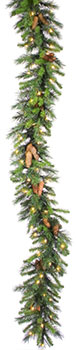 "Shop For 50 ft x 16"" Prelit Cheyenne Pine Artificial Garland Christmas Decorations Online"