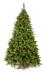 Buy 7.5 ft PE Cashmere Pine Pre-lit Artificial Christmas Trees Online