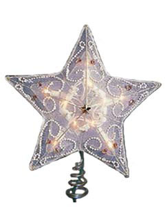 Beaded Fabric Star Christmas Tree Topper & Accessories For Sale Online