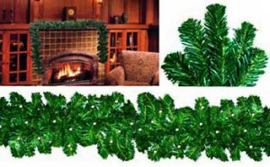 "12"" x 9' Norway Pine Lighted Christmas Garland"
