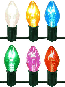 c7 twinkle christmas lights set of 50 bulbs