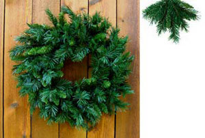 24 inch Princess Pine Mixed Needle Christmas Wreaths