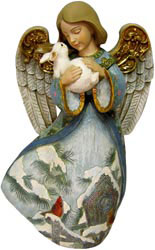 Collectible Angel and Bunny Figurine Christmas Decorations On Sale Today