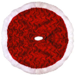 Shop Online For Plush Miniature Red Christmas Tree Skirts Now!
